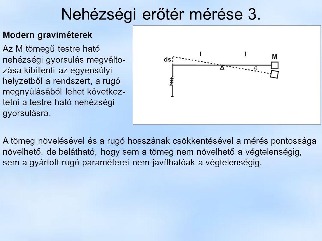 Nehézségi erőtér mérése 3.