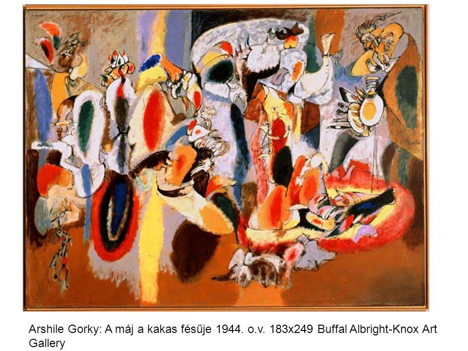 Arshile Gorky: A máj a kakas fésűje 1944. o.v. 183x249 Buffal Albright-Knox Art Gallery