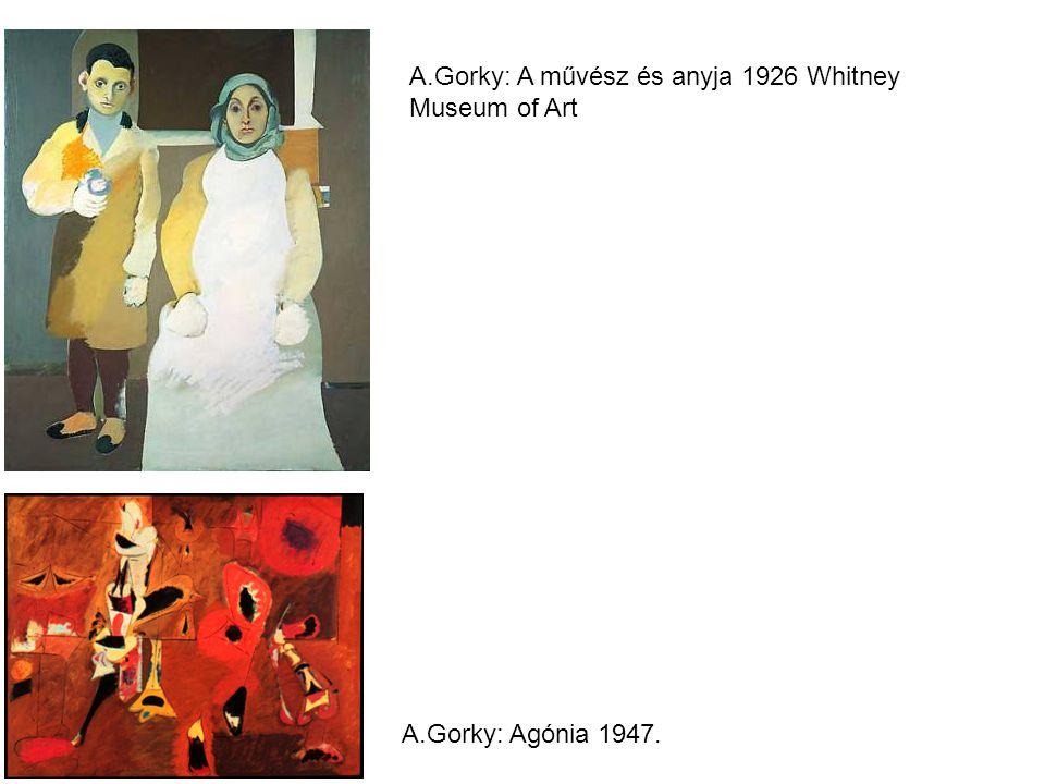 A.Gorky: A művész és anyja 1926 Whitney Museum of Art A.Gorky: Agónia 1947.