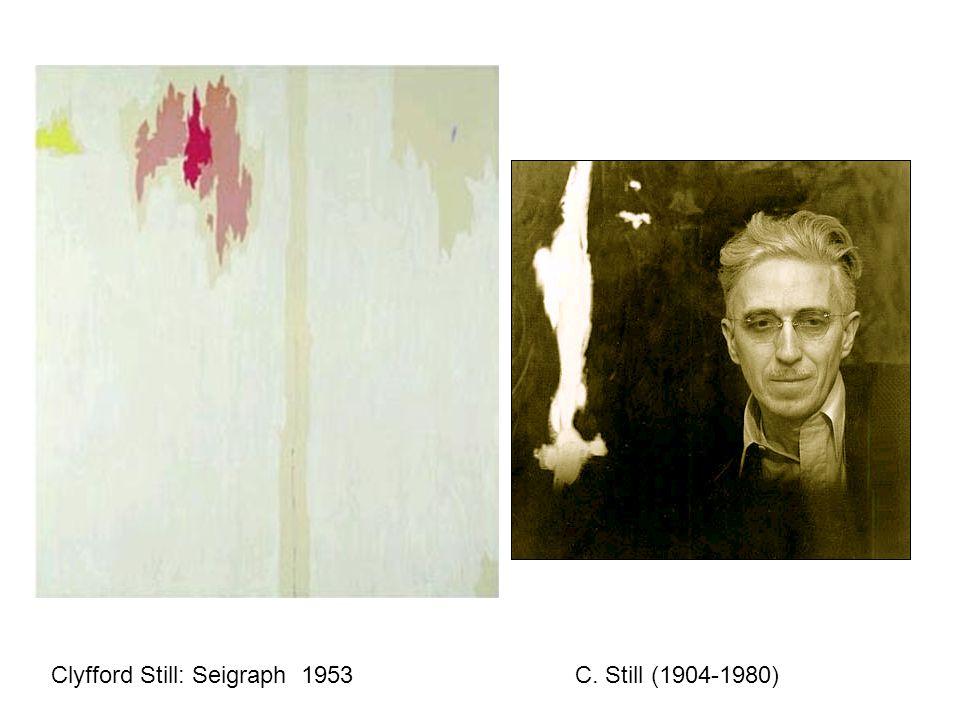 Clyfford Still: Seigraph 1953 C. Still (1904-1980)