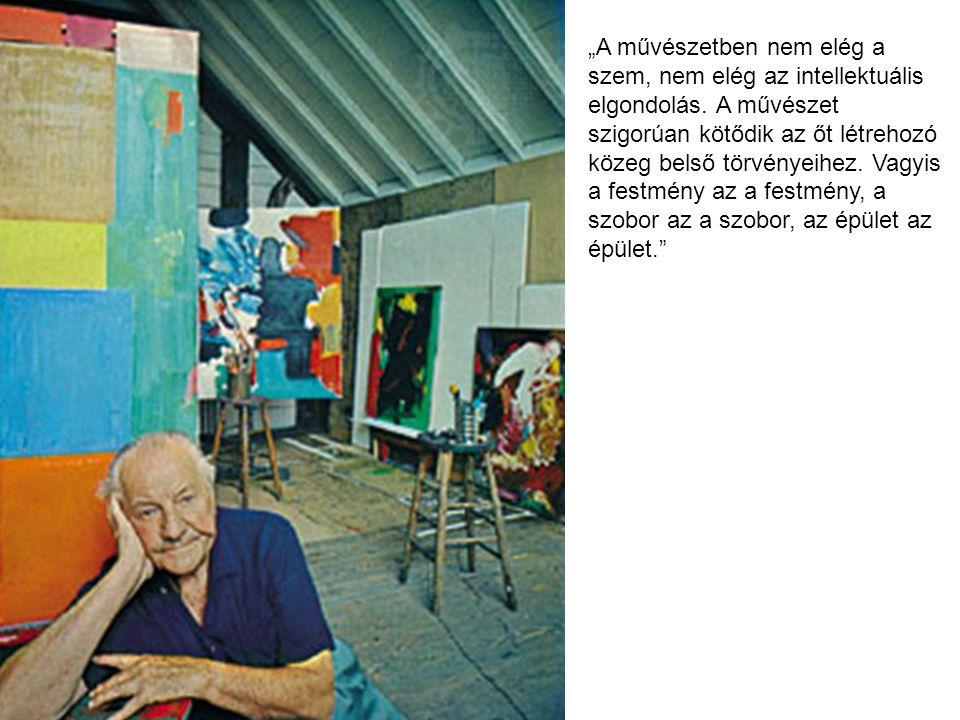 """""""A művészetben nem elég a szem, nem elég az intellektuális elgondolás. A művészet szigorúan kötődik az őt létrehozó közeg belső törvényeihez. Vagyis a"""