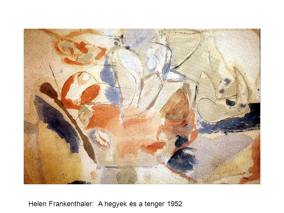 Helen Frankenthaler: A hegyek és a tenger 1952