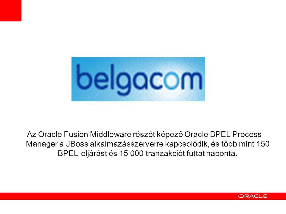 Az Oracle Fusion Middleware részét képező Oracle BPEL Process Manager a JBoss alkalmazásszerverre kapcsolódik, és több mint 150 BPEL - eljárást és 15