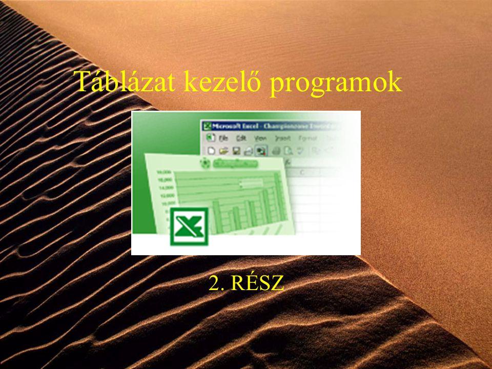 1 Táblázat kezelő programok 2. RÉSZ