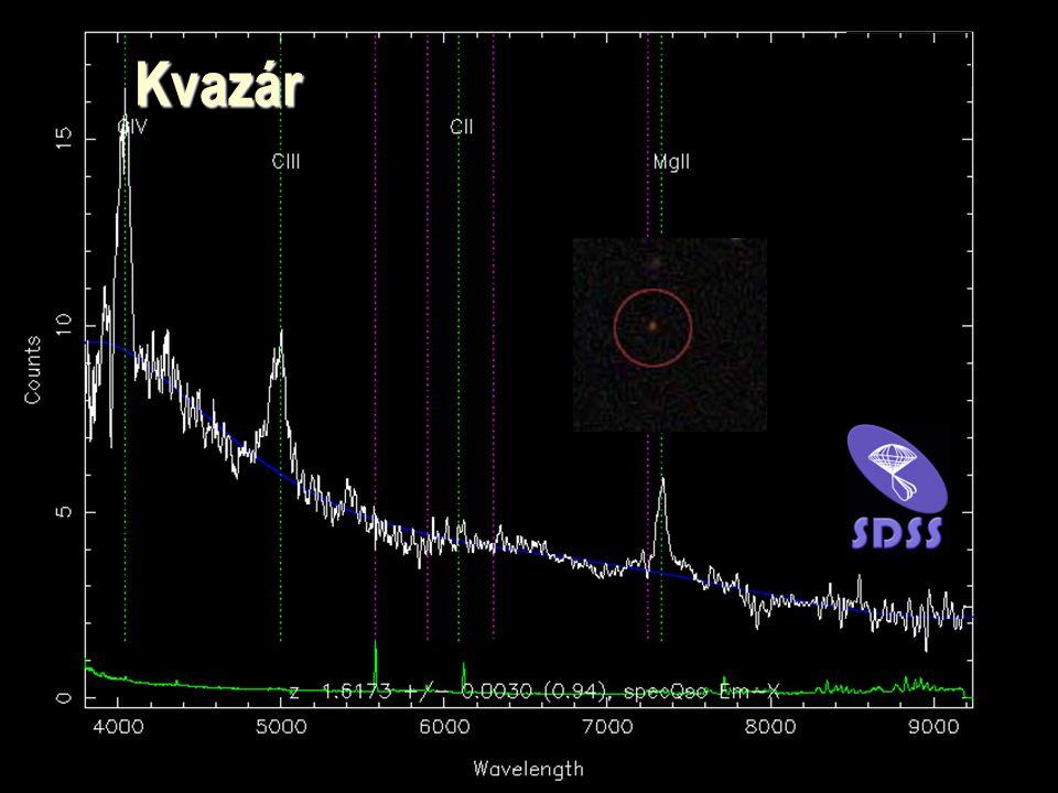 Az Univerzum térképe - ELTE 2001 13 Kvazár Kvazár