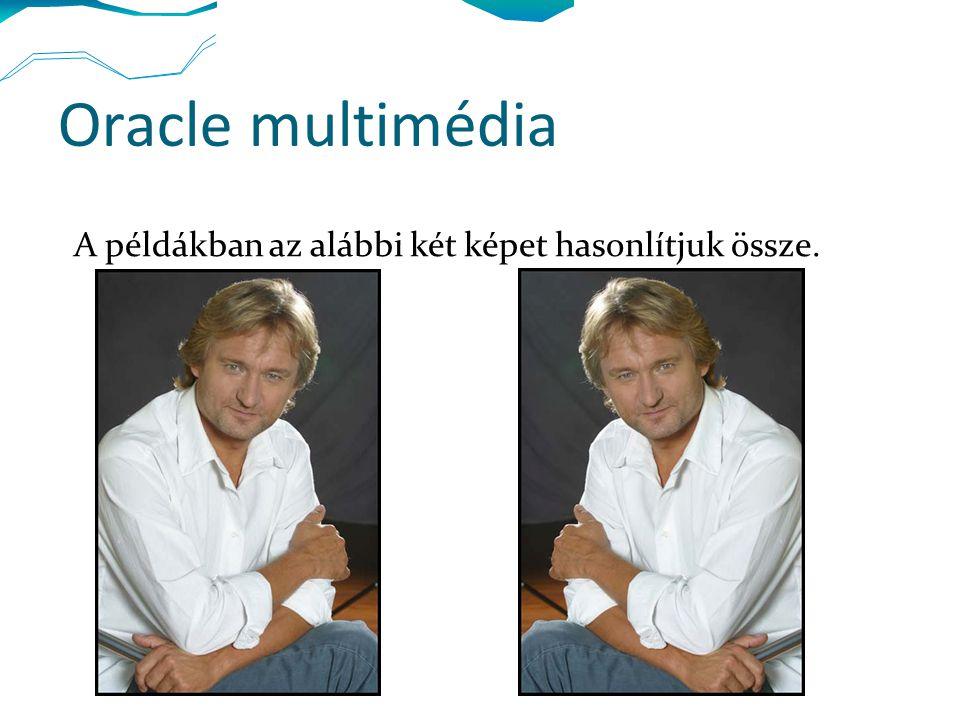 Oracle multimédia A példákban az alábbi két képet hasonlítjuk össze.