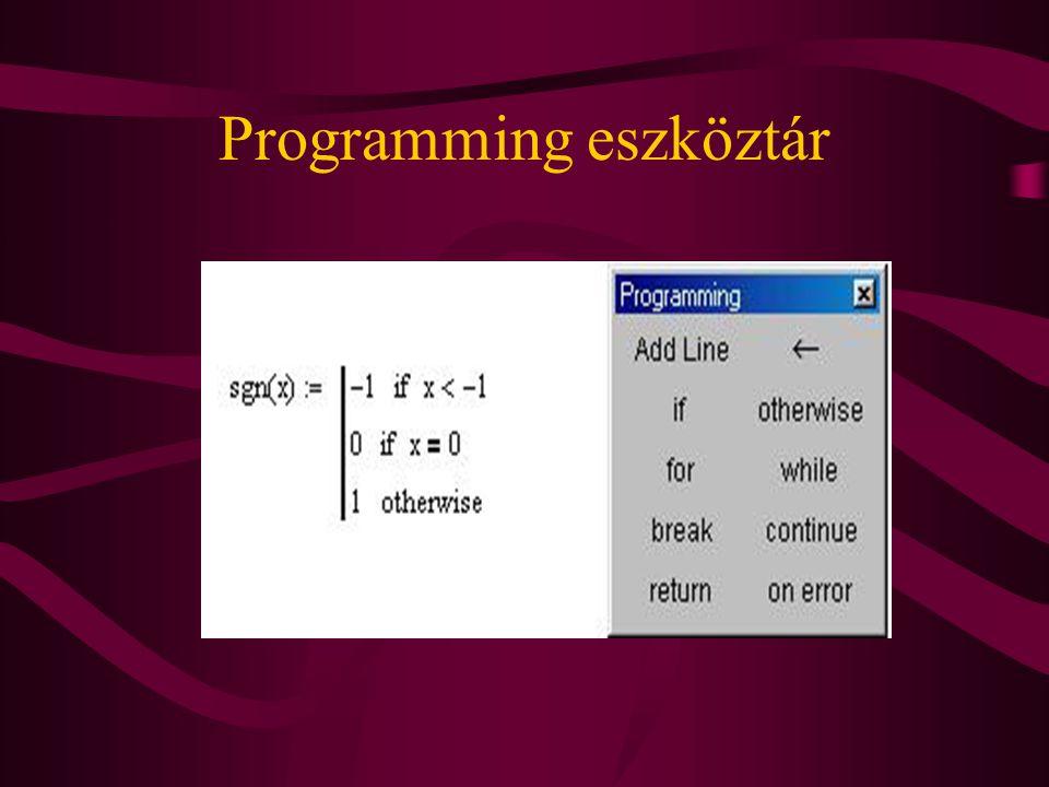 Programming eszköztár