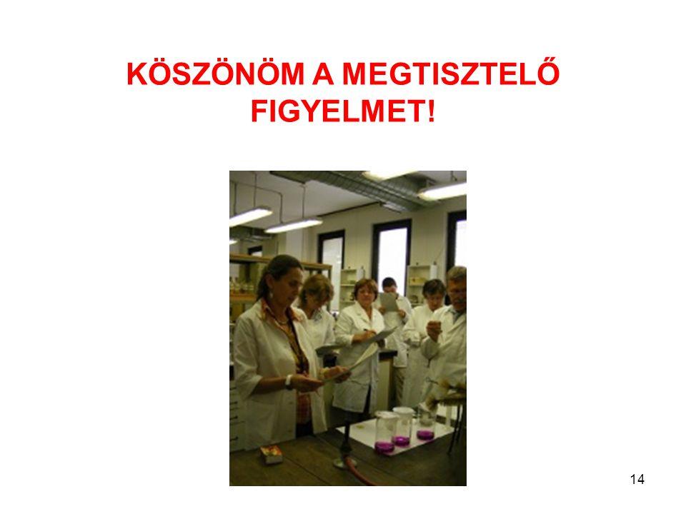 14 KÖSZÖNÖM A MEGTISZTELŐ FIGYELMET!