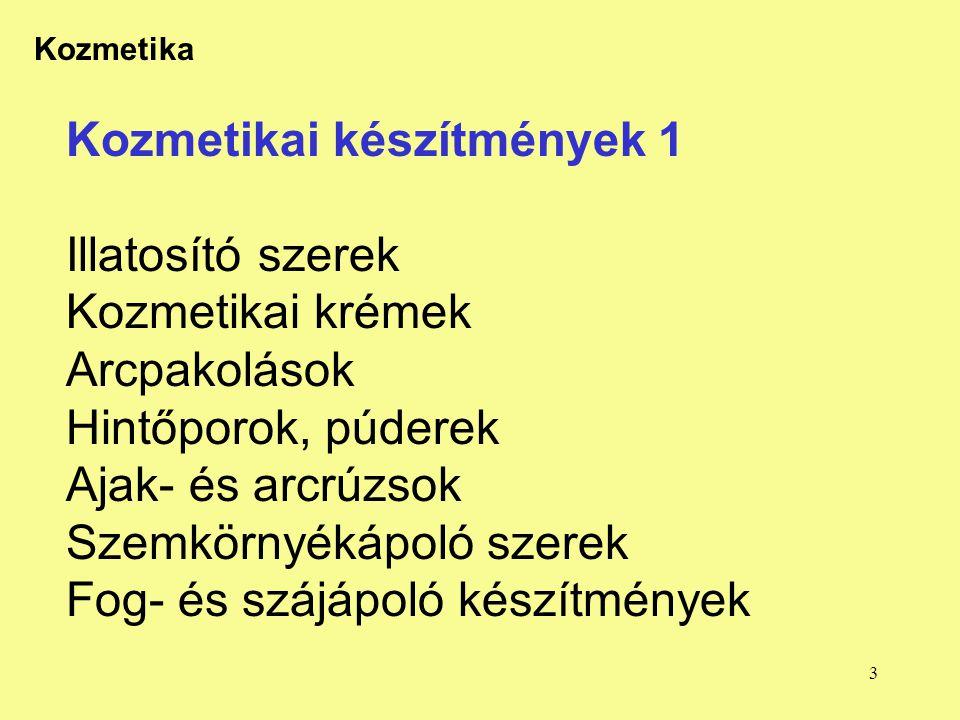 14 Kozmetika FPI Továbbképzés 2003.9.22.