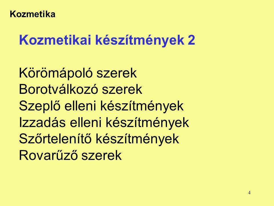 15 Kozmetika FPI Továbbképzés 2003.9.22.