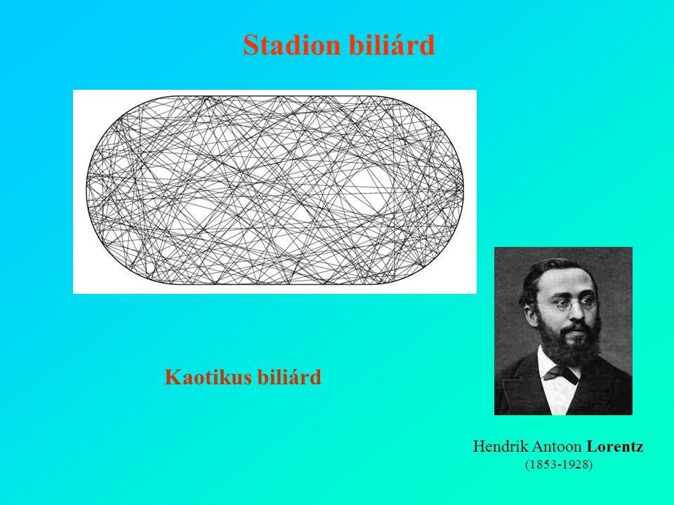 Sinai-biliárd Hendrik Antoon Lorentz (1853-1928) Stadion biliárd Kaotikus biliárd