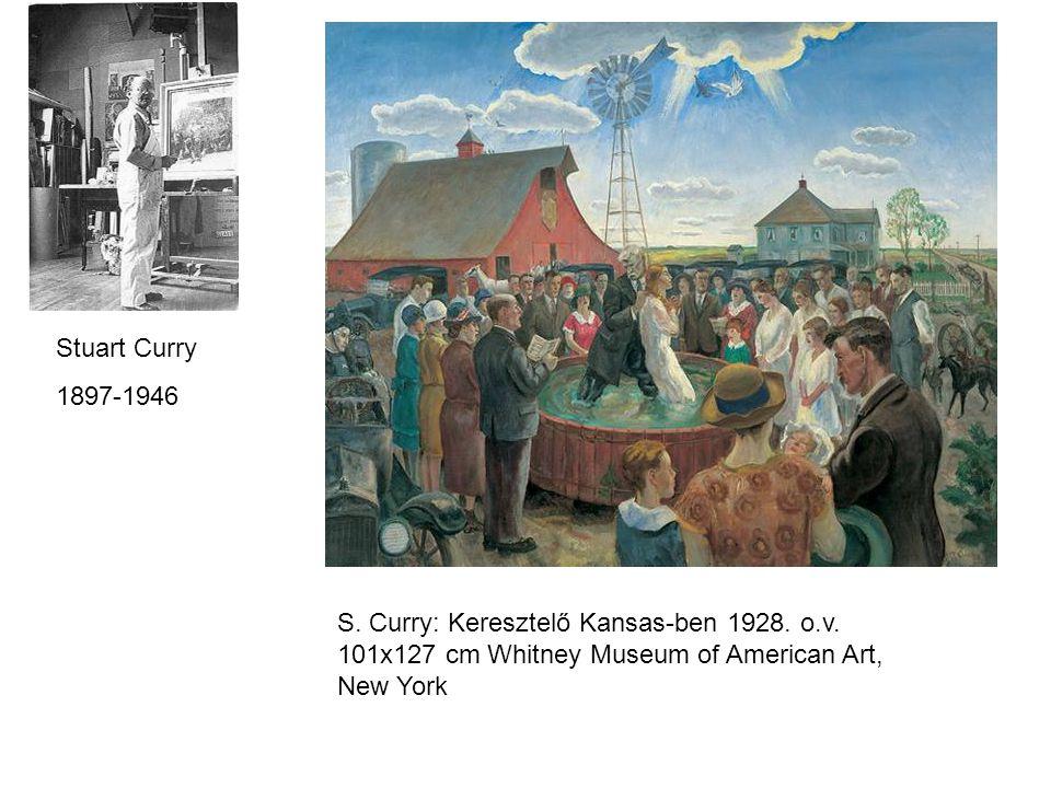 Stuart Curry 1897-1946 S. Curry: Keresztelő Kansas-ben 1928.