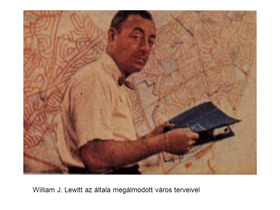 William J. Lewitt az általa megálmodott város terveivel
