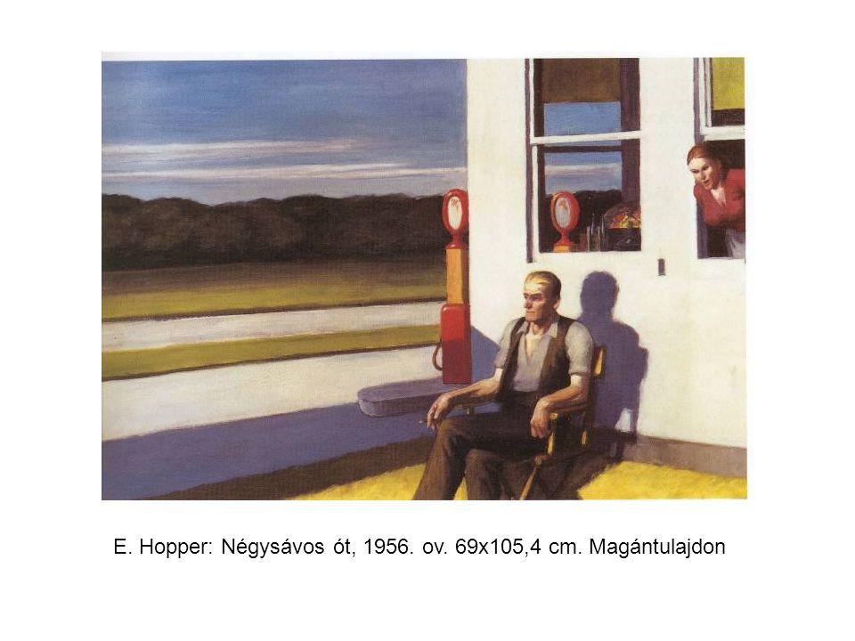 E. Hopper: Négysávos ót, 1956. ov. 69x105,4 cm. Magántulajdon