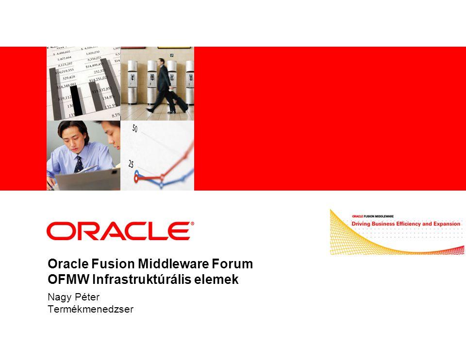 Oracle Fusion Middleware Forum OFMW Infrastruktúrális elemek Nagy Péter Termékmenedzser