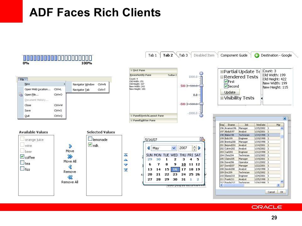 29 ADF Faces Rich Clients
