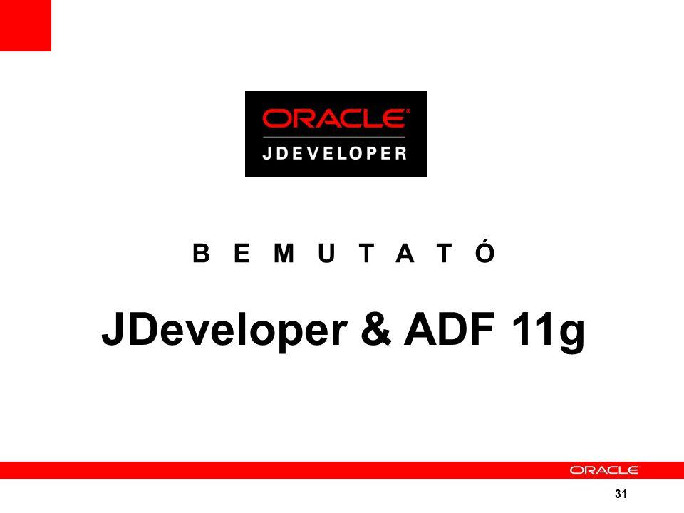 31 B E M U T A T Ó JDeveloper & ADF 11g