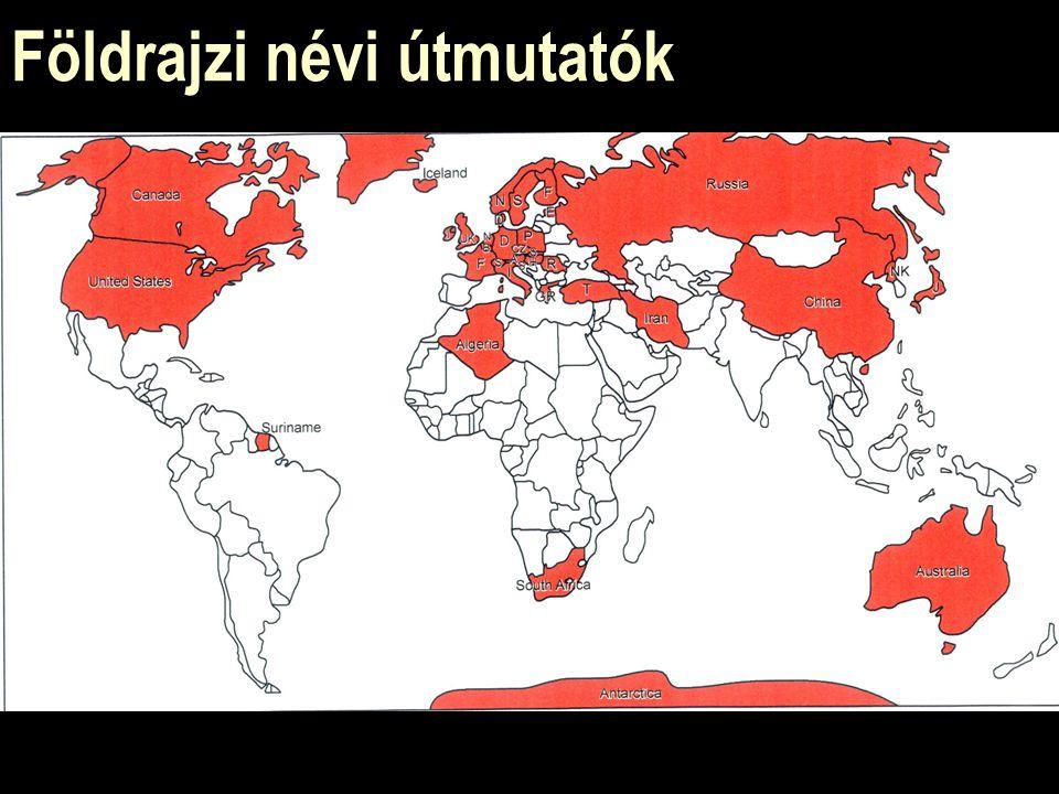 Földrajzi névi útmutatók