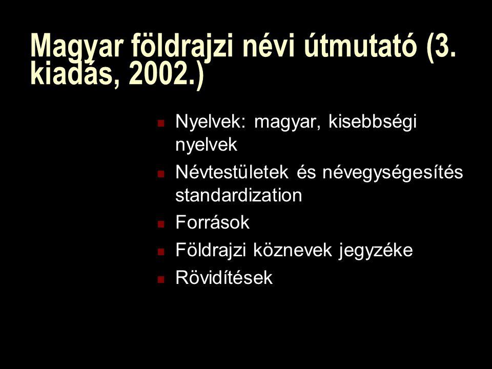 Magyar földrajzi névi útmutató (3.