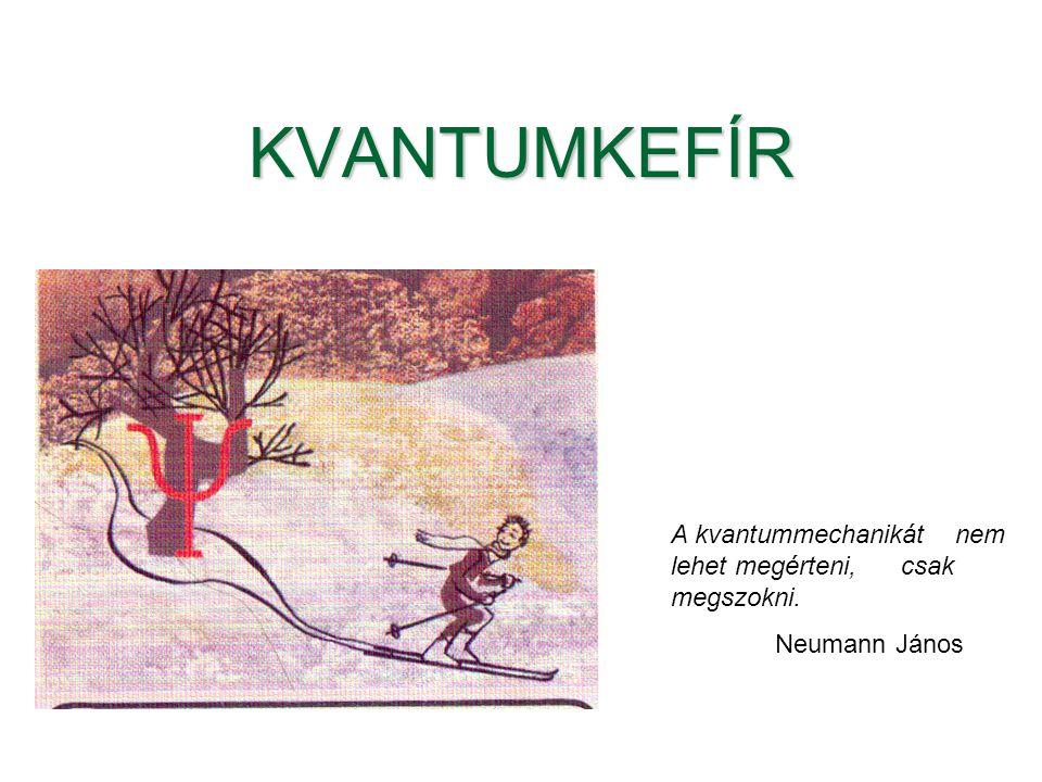 KVANTUMKEFÍR A kvantummechanikát nem lehet megérteni, csak megszokni. Neumann János
