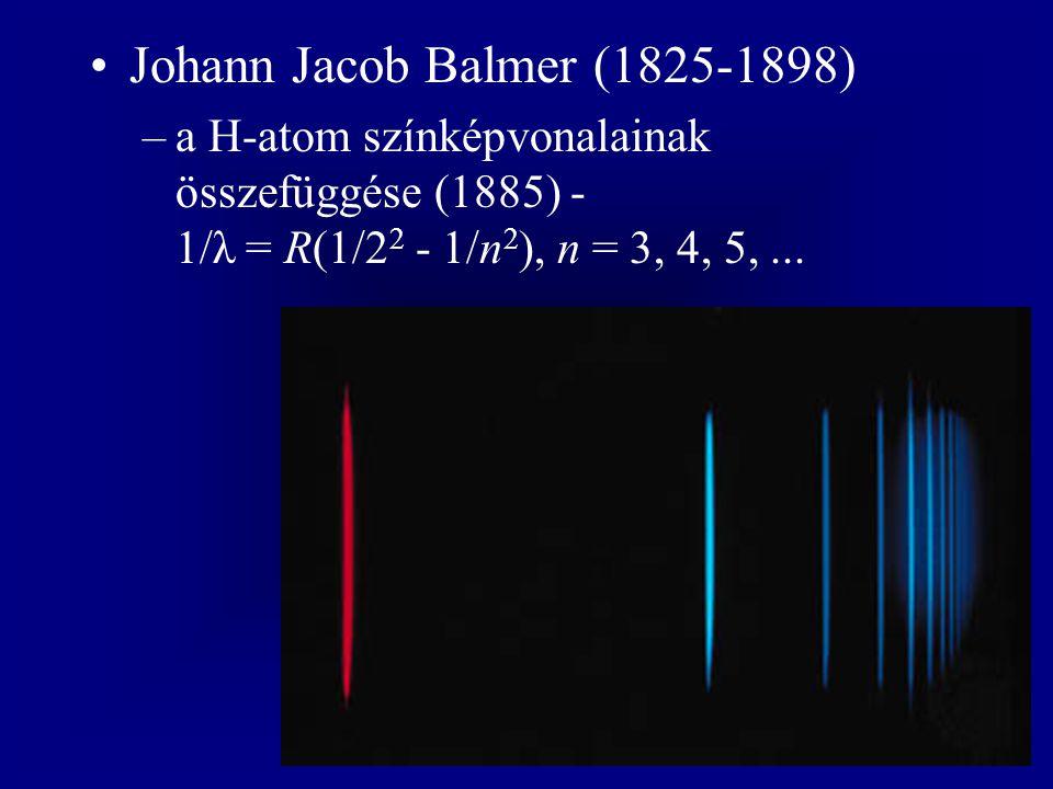Ernst Rutherford (1871-1937) –felfedezi az α és β sugarakat, valamint a radont (1899) –a radioaktív bomlás elmélete - az atomok átalakulása (1902) –az α sugarak pozitív töltésű részecskék, megjósolja a transzuránokat (1903) –kémiai Nobel-díj (1908)