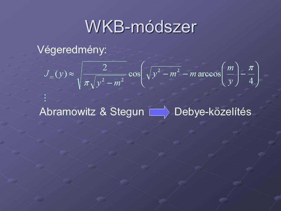 WKB-módszer Végeredmény: Abramowitz & StegunDebye-közelítés