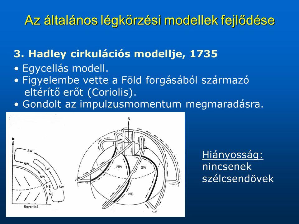 Az általános légkörzési modellek fejlődése 3.3.