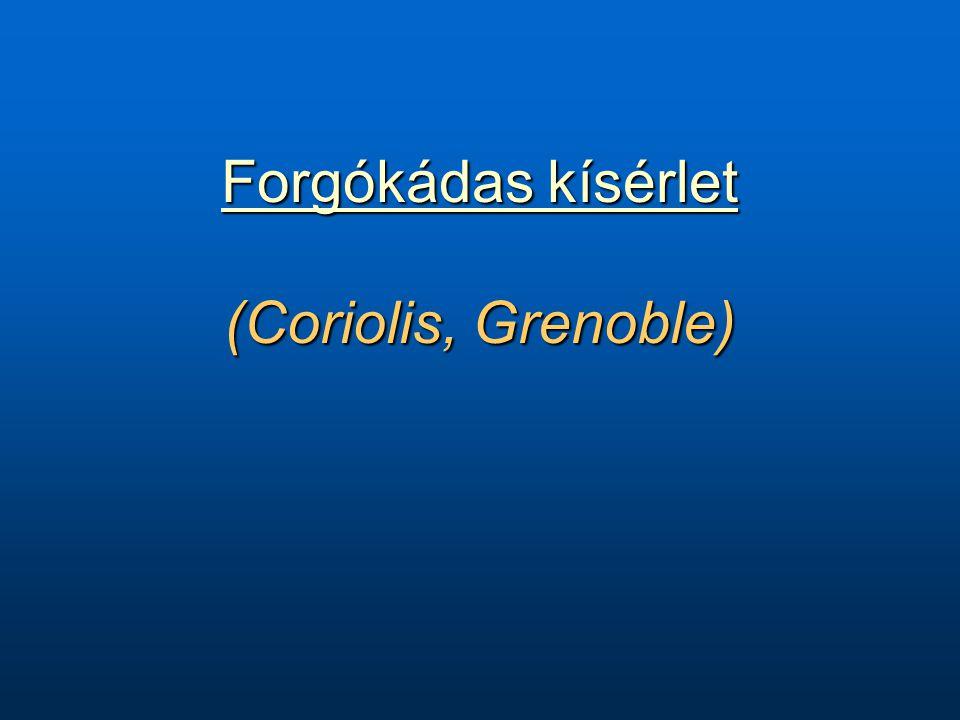 Forgókádas kísérlet Forgókádas kísérlet (Coriolis, Grenoble) Forgókádas kísérlet