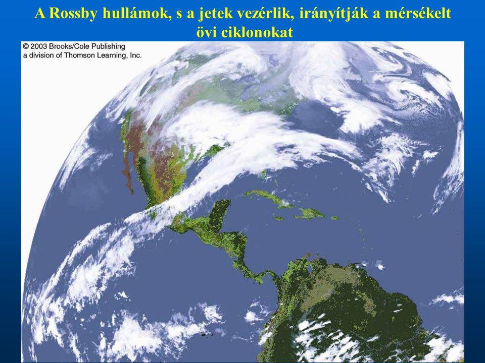 A Rossby hullámok, s a jetek vezérlik, irányítják a mérsékelt övi ciklonokat