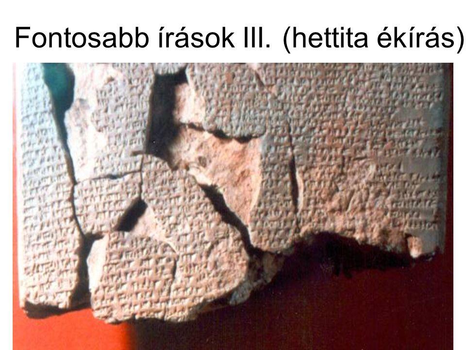 Fontosabb írások III. (hettita ékírás)