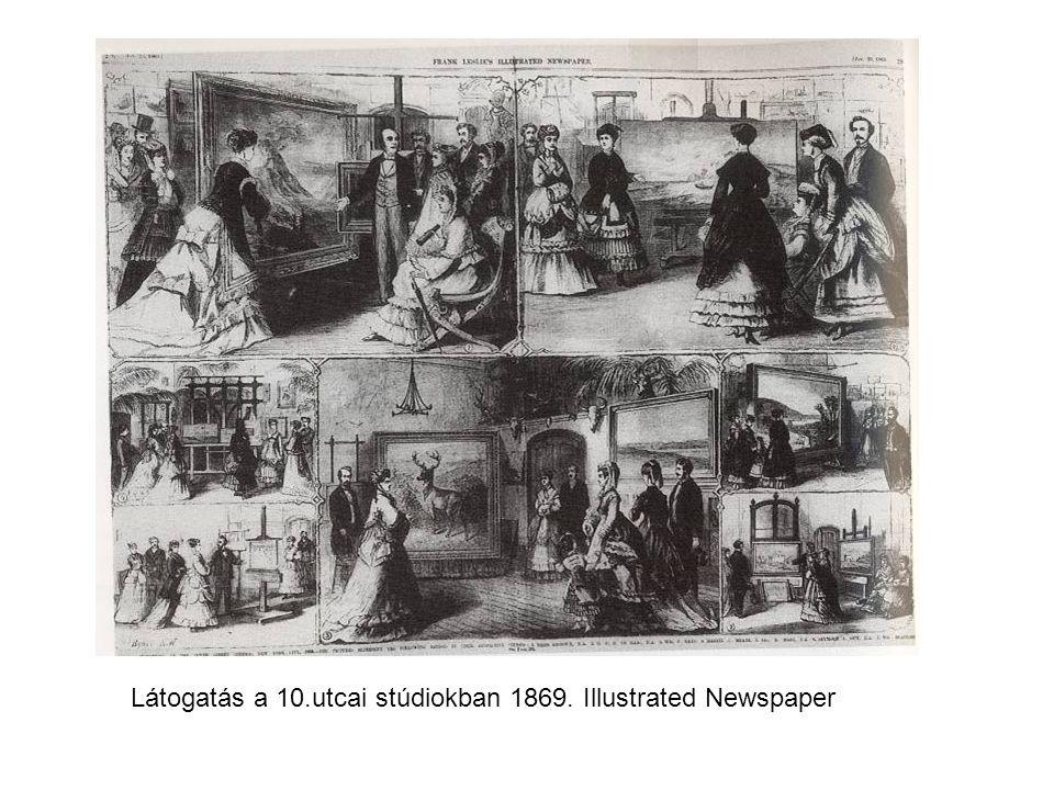 Látogatás a 10.utcai stúdiokban 1869. Illustrated Newspaper