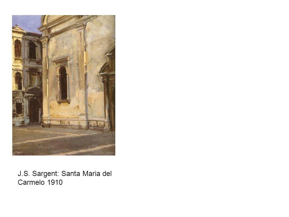 J.S. Sargent: Santa Maria del Carmelo 1910