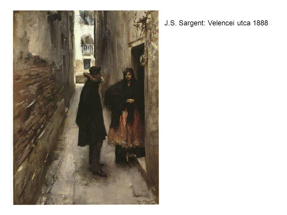 J.S. Sargent: Velencei utca 1888