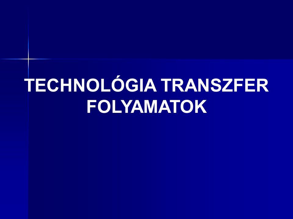A technológia transzfer intézményrendszere Az intézményrendszer feladata a tudás, az információhoz való hozzáférés biztosítása a gazdaság szereplői felé.