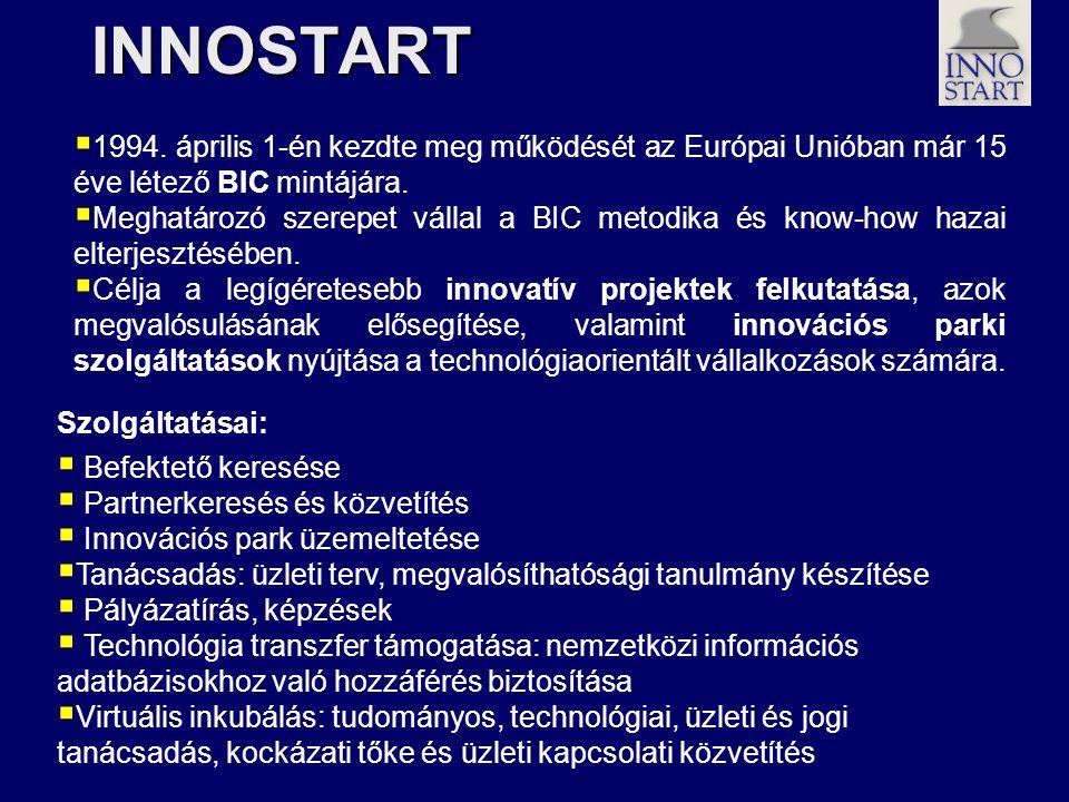 INNOSTART  1994. április 1-én kezdte meg működését az Európai Unióban már 15 éve létező BIC mintájára.  Meghatározó szerepet vállal a BIC metodika é