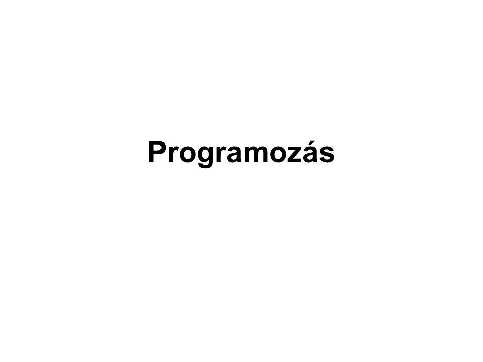 néhány régebbi programnyelv, amelyek elterjedtek voltak, de ma már csak elvétve találkozni velük: FORTRAN (FORmula TRANslator) COBOL PROLOG ( = PROgramming in LOGic) LISP ( = LISt Processing) SMALLTALK