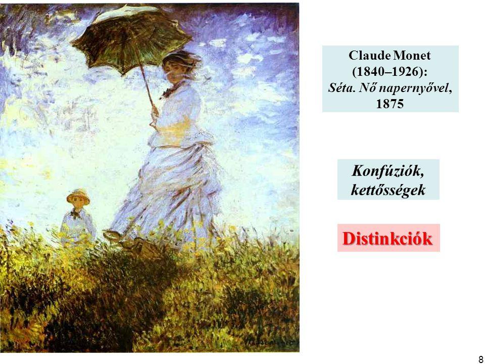 Claude Monet (1840–1926): Séta. Nő napernyővel, 1875 Distinkciók Konfúziók, kettősségek 8