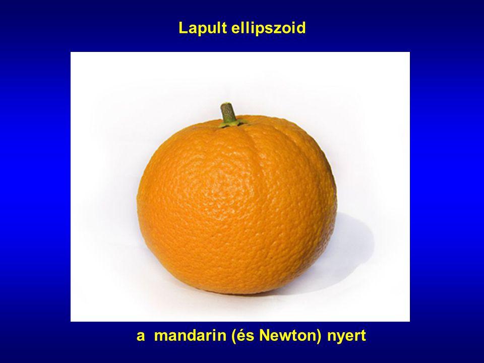 a mandarin (és Newton) nyert Lapult ellipszoid