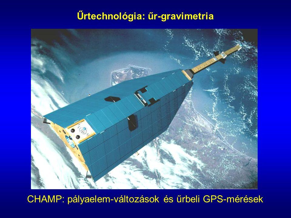 Űrtechnológia: űr-gravimetria CHAMP: pályaelem-változások és űrbeli GPS-mérések