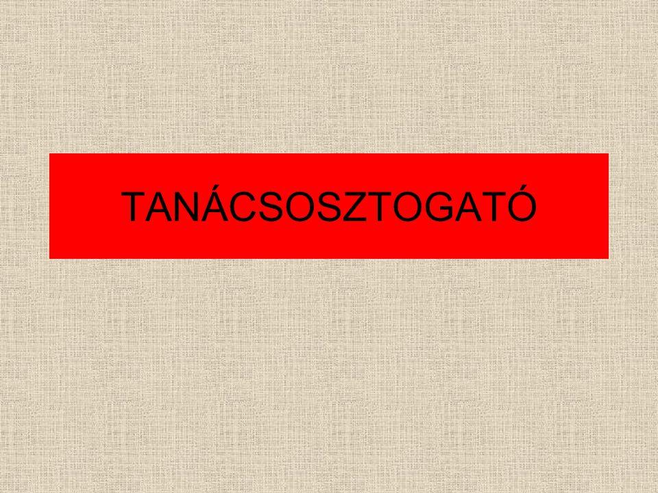 TANÁCSOSZTOGATÓ