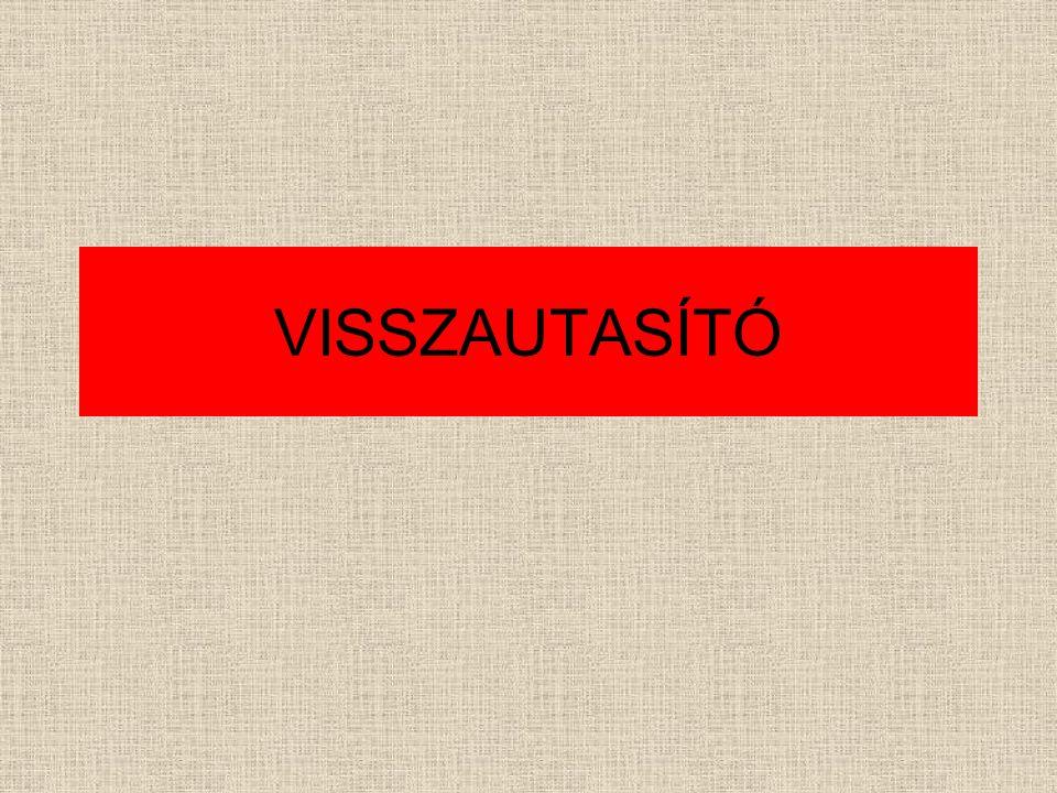 VISSZAUTASÍTÓ