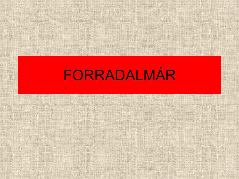 FORRADALMÁR
