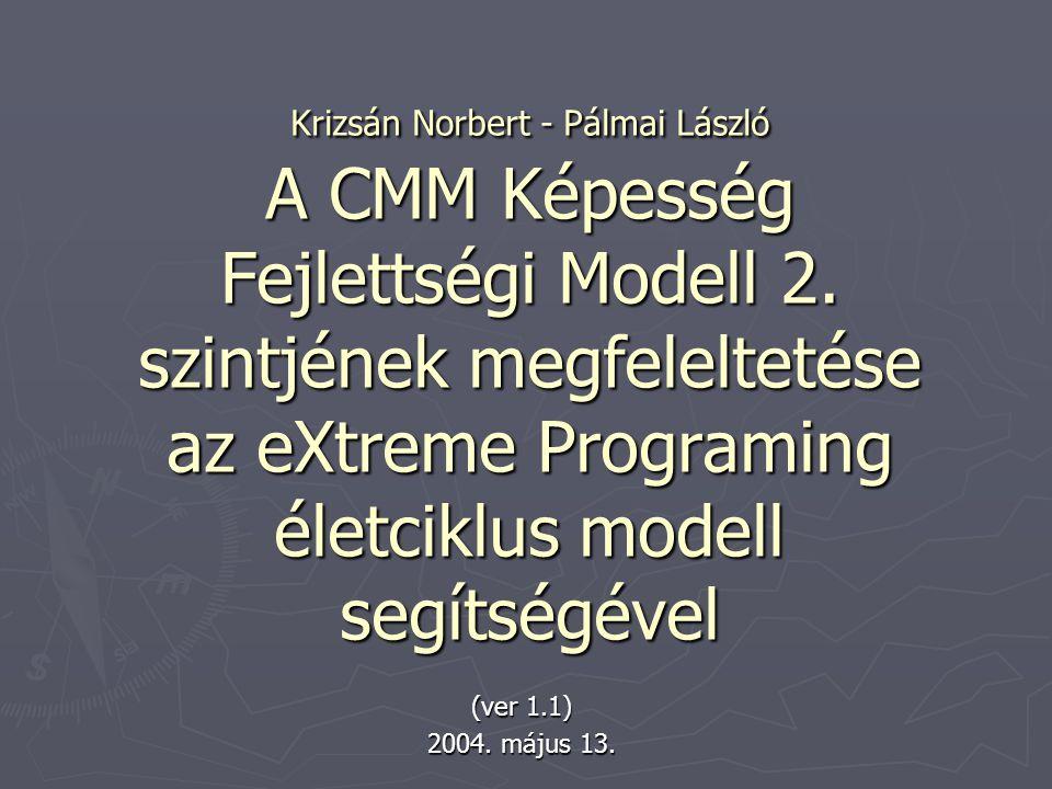 Krizsán Norbert - Pálmai László A CMM Képesség Fejlettségi Modell 2.