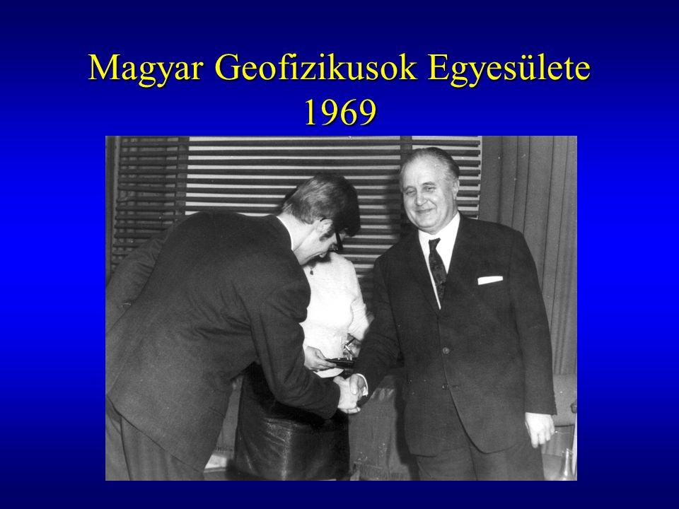 Magyar Geofizikusok Egyesülete 1969