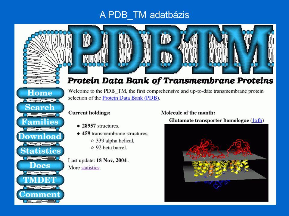 A PDB_TM adatbázis