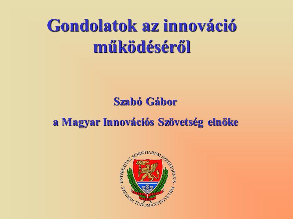 Gondolatok az innováció működéséről Szabó Gábor a Magyar Innovációs Szövetség elnöke