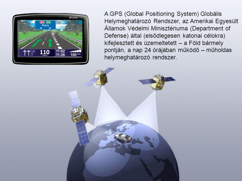 A GPS egy fejlett helymeghatározó rendszer, amellyel 3 dimenziós helyzetmeghatározást, időmérést és sebességmérést végezhetünk földön, vízen vagy levegőben.