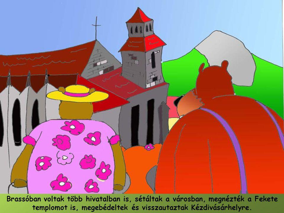 Brassóban voltak több hivatalban is, sétáltak a városban, megnézték a Fekete templomot is, megebédeltek és visszautaztak Kézdivásárhelyre.