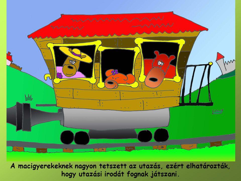 A macigyerekeknek nagyon tetszett az utazás, ezért elhatározták, hogy utazási irodát fognak játszani.