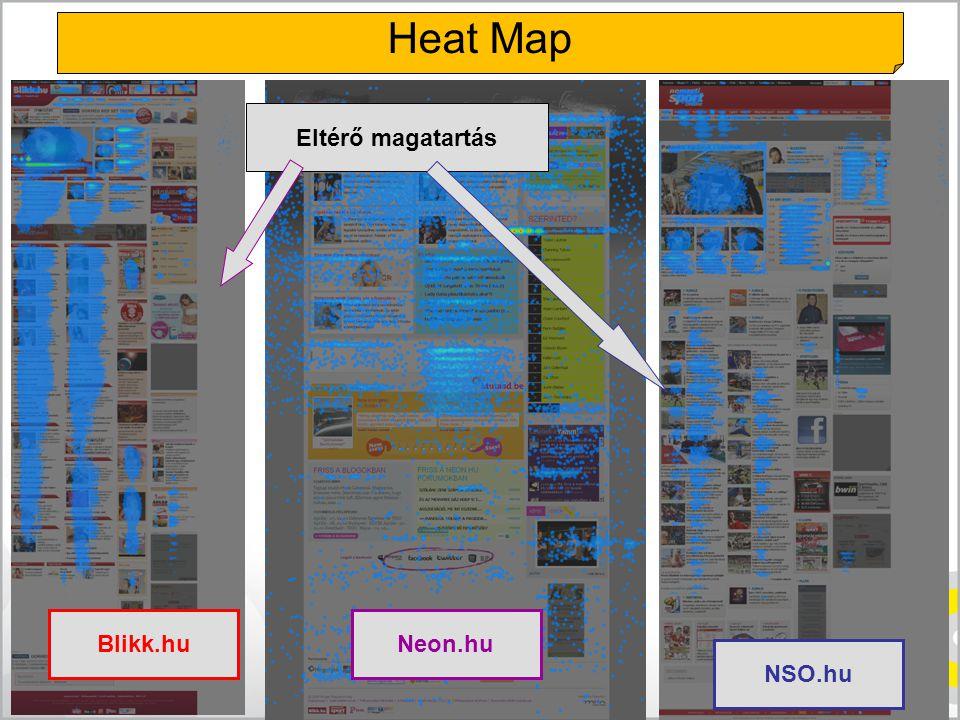 Blikk.huNeon.hu NSO.hu Eltérő magatartás Heat Map